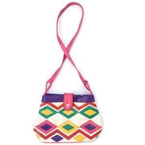 Tribal Colorful Diamond Print Southwest Boho Purse